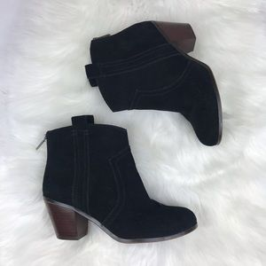 Sam Edelman black suede booties 7.5""